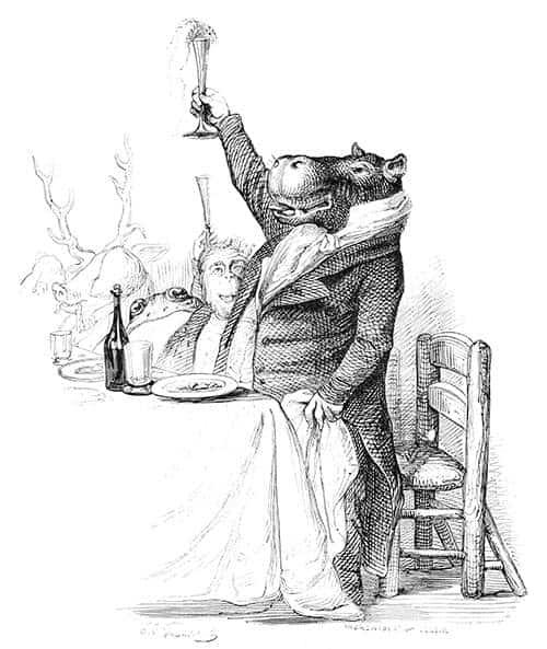 Hippo toasting.